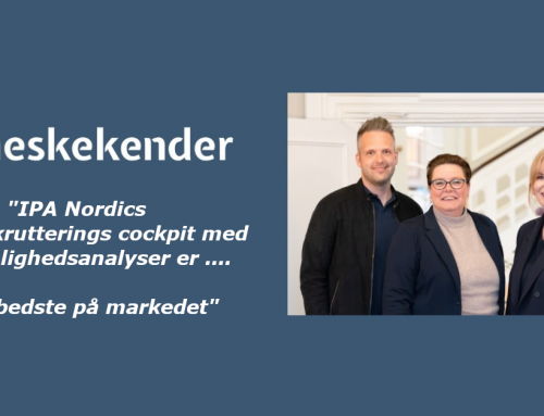 Rekrutteringsvirksomheden Menneskekender vælger personlighedsanalyserne fra IPA Nordic